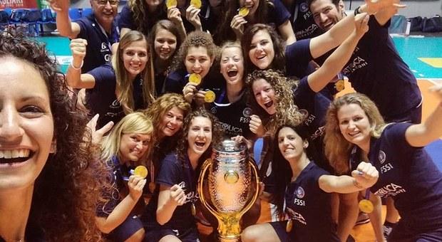 La squadra volley sorde che ha vinto gli Europei