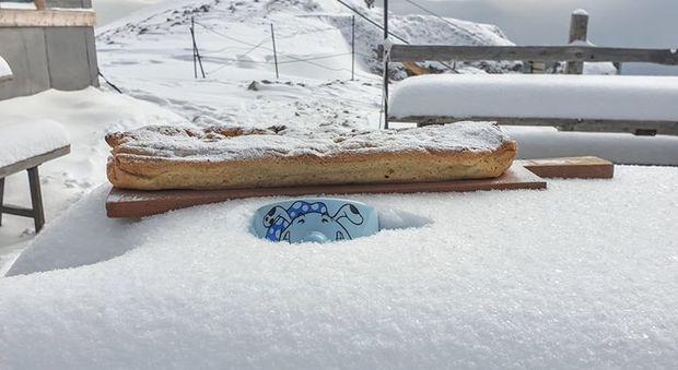 La neve caduta sulla Marmolada
