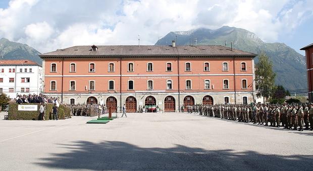 La Caserma Salsa del Settimo Reggimento Alpini a Belluno