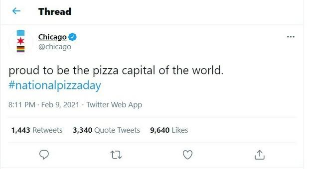 Stati Uniti, Chicago si dichiara «Capitale della pizza». La replica social: «...dopo Napoli»