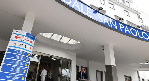 L'ingresso dell'ospedale San paolo