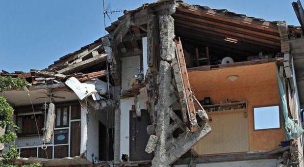 Una casa distrutta a Rovereto