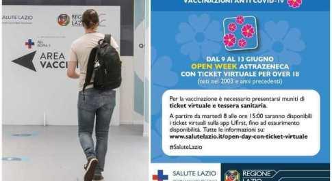 Open Day Astrazeneca nel Lazio (9-13 giugno), da domani al via le prenotazioni: fasce d'età, orari e come funziona