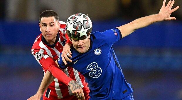 Tre inglesi ai quarti: 2-0 del Chelsea all'Atletico Madrid, gol di Ziyech ed Emerson