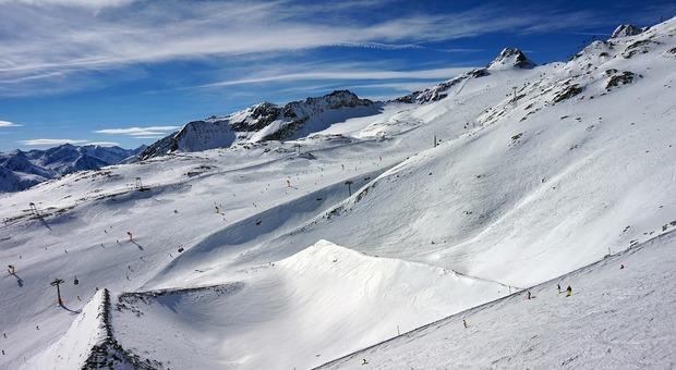 Piste da sci a Solden in Austria