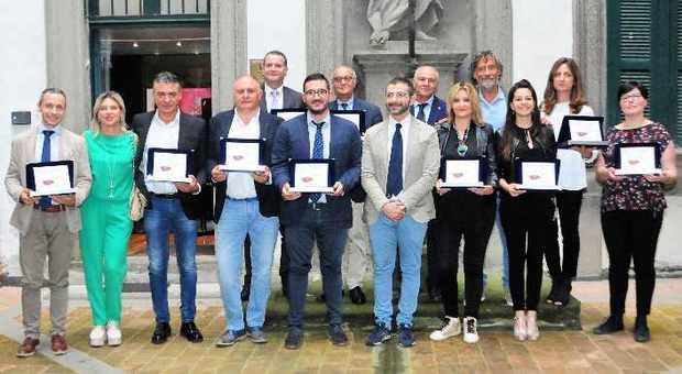 Il gruppo dei rappresentanti delle aziende premiate a Viterbo