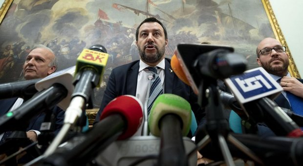 Salvini a piazza del Popolo: