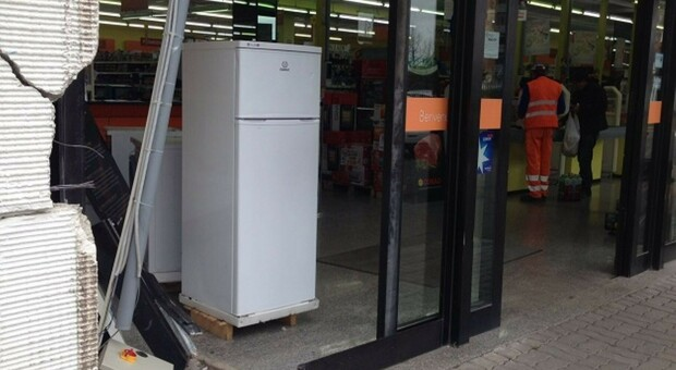 Un precedente assalto a un supermercato di Guidonioa