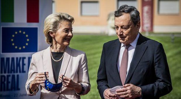 """Recovery, Draghi: """"celebriamo alba ripresa italiana, spendere con onestà e responsabilità"""""""