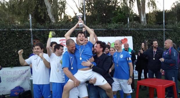 La premiazione dopo un torneo cui ha partecipato la Romulea Autistic Football Club
