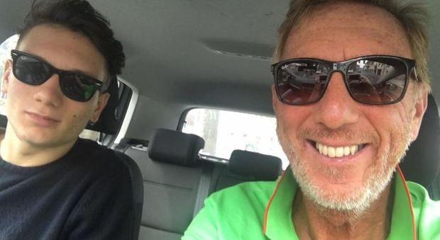 Manuel Bortuzzo con il papà Franco sempre al suo fianco