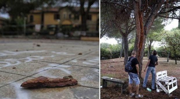 Roma, quattro amici colpiti da un fulmine nel parco