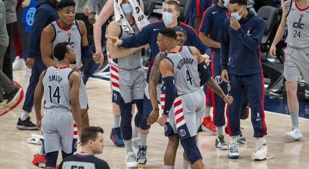 NBA, Westbrook-Beal da 78 punti: clamorosa rimonta di Washington sui Nets