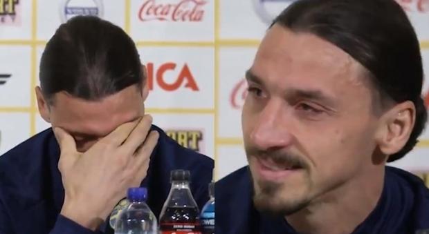 Ibrahimovic si commuove in conferenza. Poi sul Milan: «Voglio farne parte»