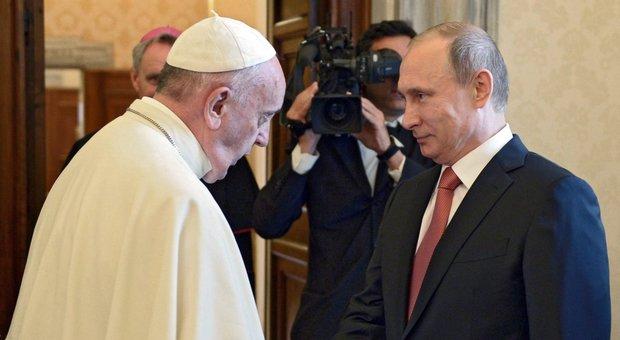 Papa e Putin per la terza volta a tu per tu, in agenda Ucraina, disarmo nucleare, Siria e questioni umanitarie