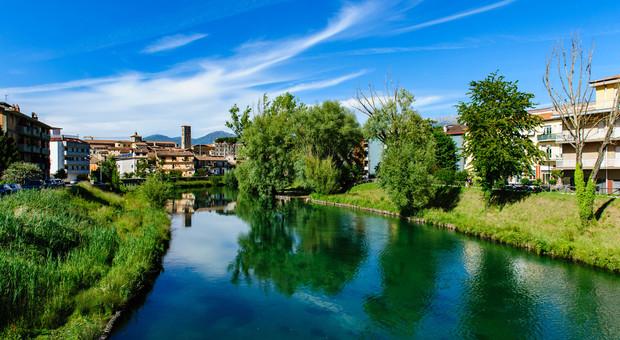 Il fiume Velino a Rieti