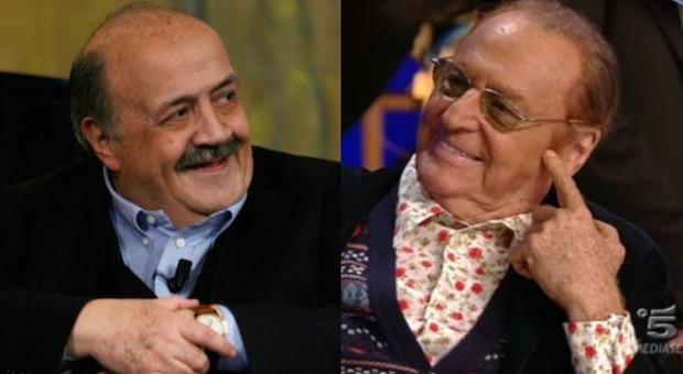 Maurizio Costanzo e Renzo Arbore