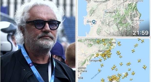 La rabbi di Flavio Briatore su Instagram: «Non ci sono voli per la Sardegna!»