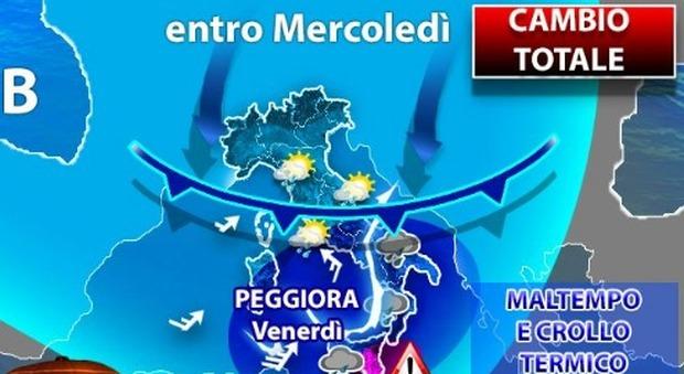 Meteo, da Ognissanti in poi Italia bersagliata dal maltempo