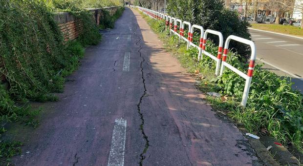 Roma, segnaletica assente e piste in abbandono: ciclisti a rischio