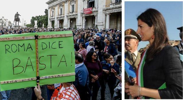 Raggi e le accuse della piazza: «Non mollo, Salvini rispetti i patti»