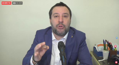 Coronavirus, Salvini: «Referendum per uscire da Ue? Assolutamente comprensibile»