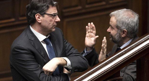 Giancarlo Giorgetti con Claudio Borghi