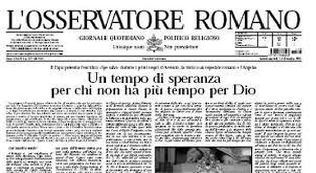 L'Osservatore Romano sospende l'edizione cartacea, troppo rischioso per il coronavirus