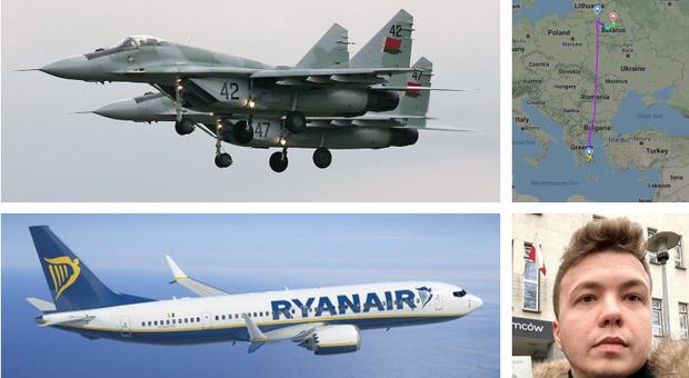 Caccia Mig29 della Bielorussia costringono aereo Ryanair ad atterrare: arrestato giornalista sgradito a Lukashenko. L'Ue minaccia sanzioni. Supplemento antirapimento?