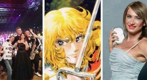 «Vladimir Luxuria invidiosa della spada di Lady Oscar», bufera per una battuta al concerto di Cristina D'Avena