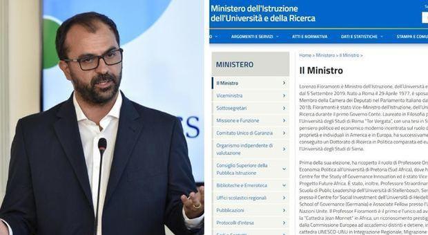 Fioramonti si è dimesso a fine dicembre, ma per il sito del Miur è ancora lui il ministro