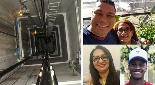 Ascensore precipita dal nono piano, morta un'intera famiglia di 4 persone