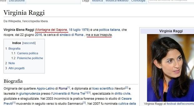 Virginia Raggi Beffa Su Wikipedia è Sindaco A Sua Insaputa