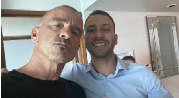 Luca Di Vincenzo con Eros Ramazzotti