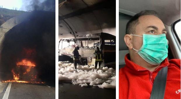 Bus si incendia in galleria a Lecco: autista rischia la vita e salva 25 bambini a Lecco
