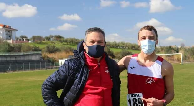Matteo Rossi con l'allenatore Marcello Vicerè