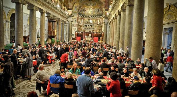 Sant'Egidio e il pranzo di Natale: oltre 60mila i poveri a tavola