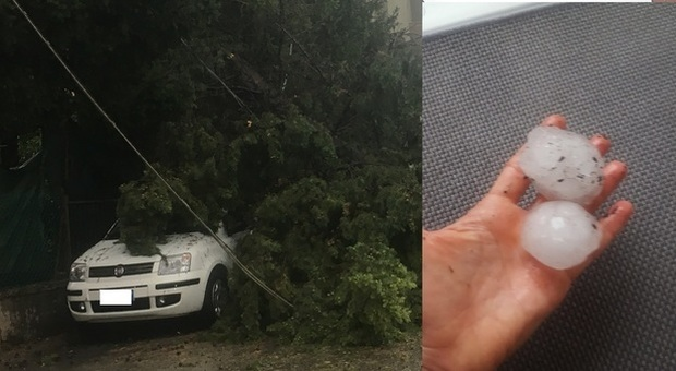 Meteo, torna il maltempo: violenta grandinata fa danni ad Ancona, allerta in sei regioni