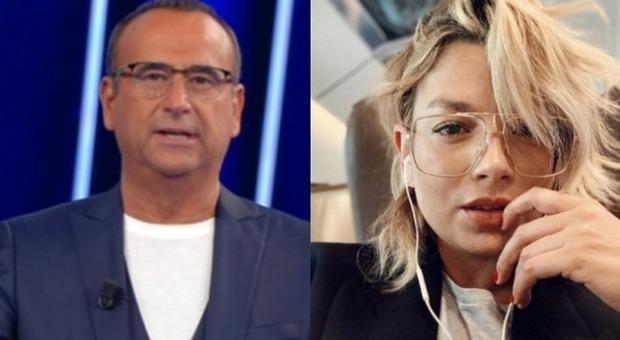 Emma Marrone, il messaggio commosso di Carlo Conti in diretta a Tale e Quale: «Una ragazza straordinaria...» (foto frame Rai/Instagram)