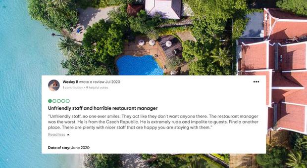 Lascia recensioni negative su Tripadvisor, il resort thailandese lo denuncia: ora rischia 2 anni di carcere