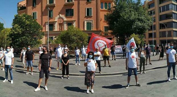 La protesta degli infermieri in Regione