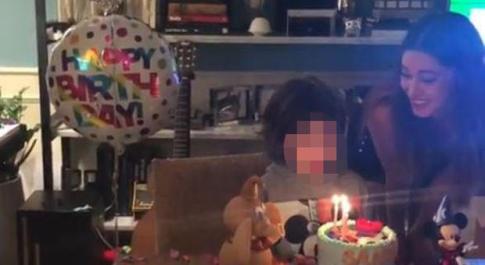 Belen e la festa per il compleanno di Santiago: ma il regalo più bello lo ha già ricevuto