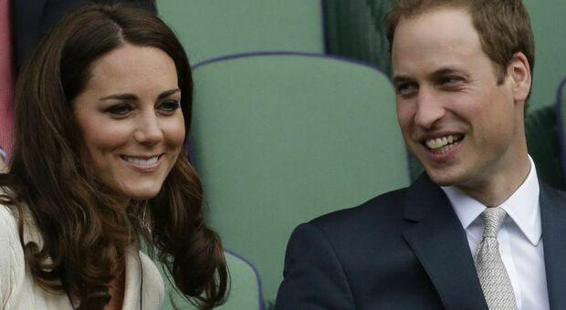 Il principe William con la moglie Kate Middleton