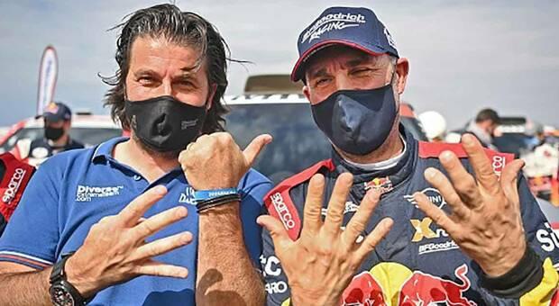 Il 14 volte vincitore della Dakar Stephane Peterhansel.