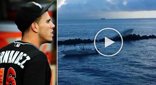 José Fernandez, giocatore di baseball morto a 24 anni: le immagini dell'incidente in barca