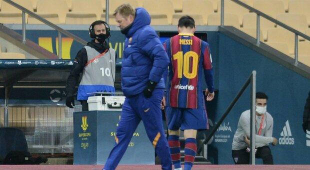 Messi e il primo rosso col Barcellona: 753 presenze dopo e in una finale persa ai supplementari