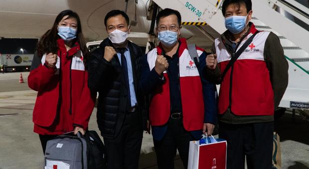 I medici cinesi sbarcati a Roma la scorsa settimana