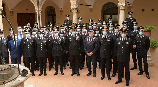 Il comandante generale dell'Arma dei Carabinieri, generale Teo Luzi, visita la Legione Carabinieri Umbria