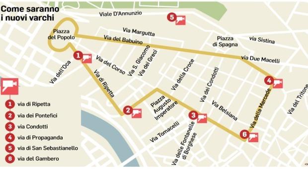 Ztl Firenze Cartina.Roma Scatta La Ztl Altri Varchi Nel Tridente Da Lunedi
