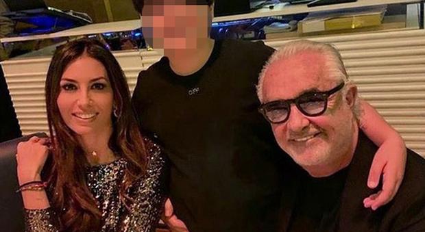 Elisabetta Gregoraci, Nathan Falco e Flavio Briatore (Instagram)